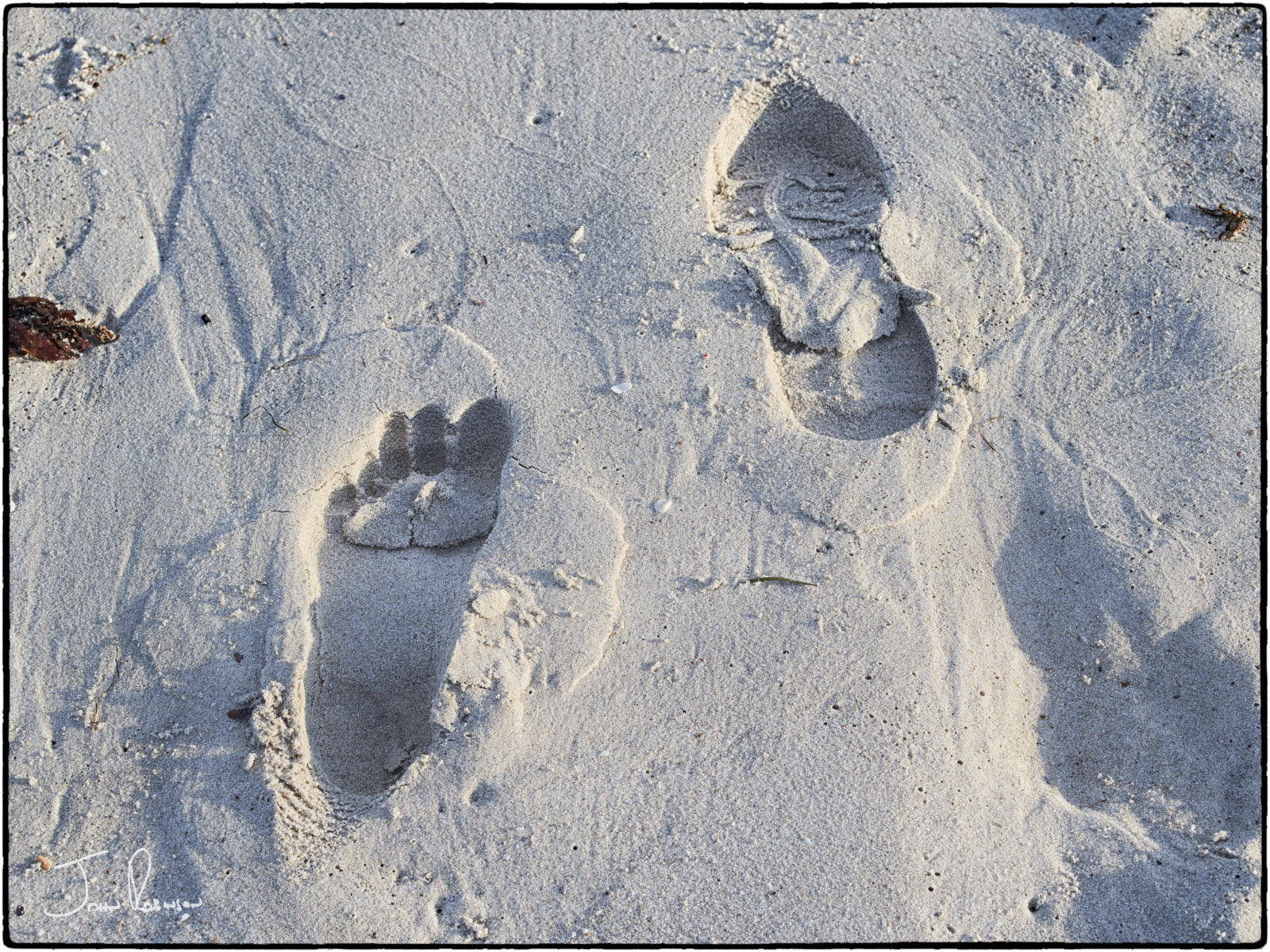 Footprints in the sand, Cottesloe Beach, Western Australia