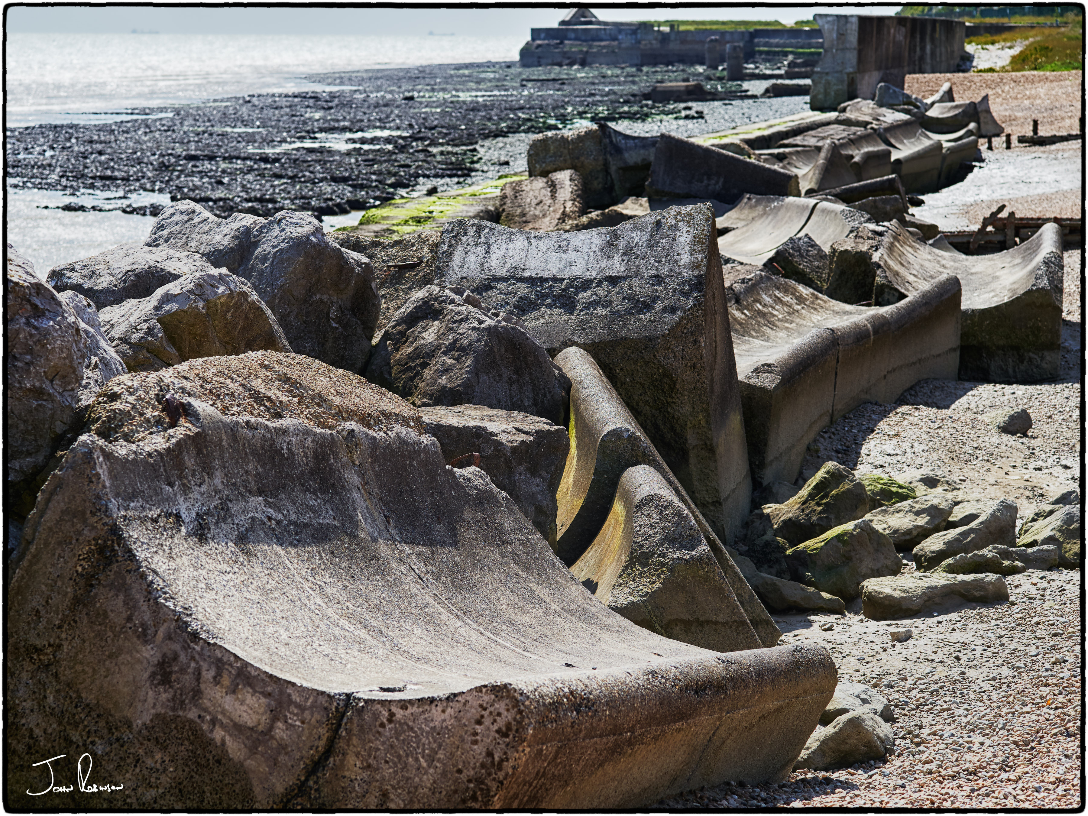 What the sea did to its defences, Kingsdown, Kent