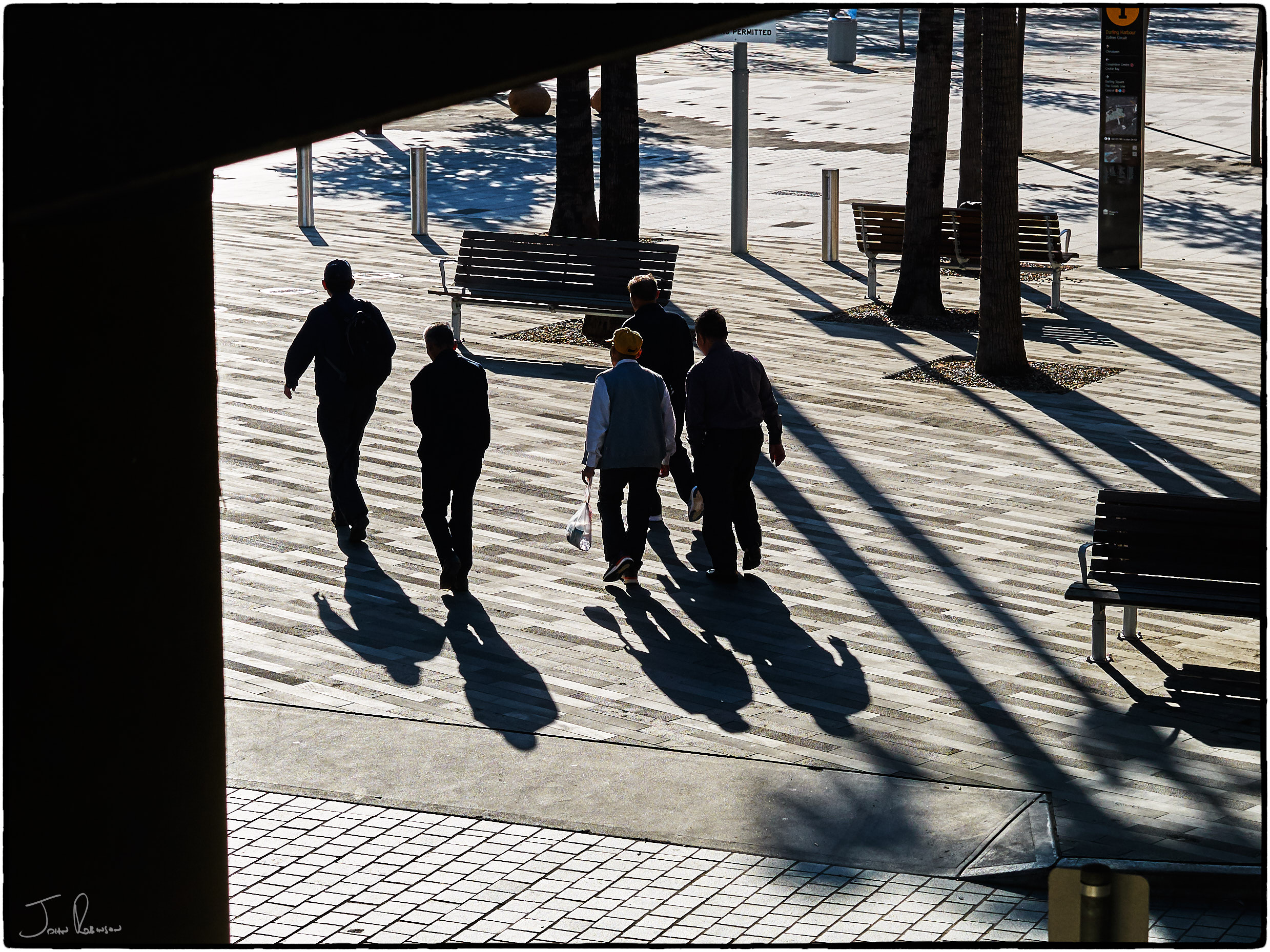 Striding into the Winter sun, Darling Harbour, Sydney