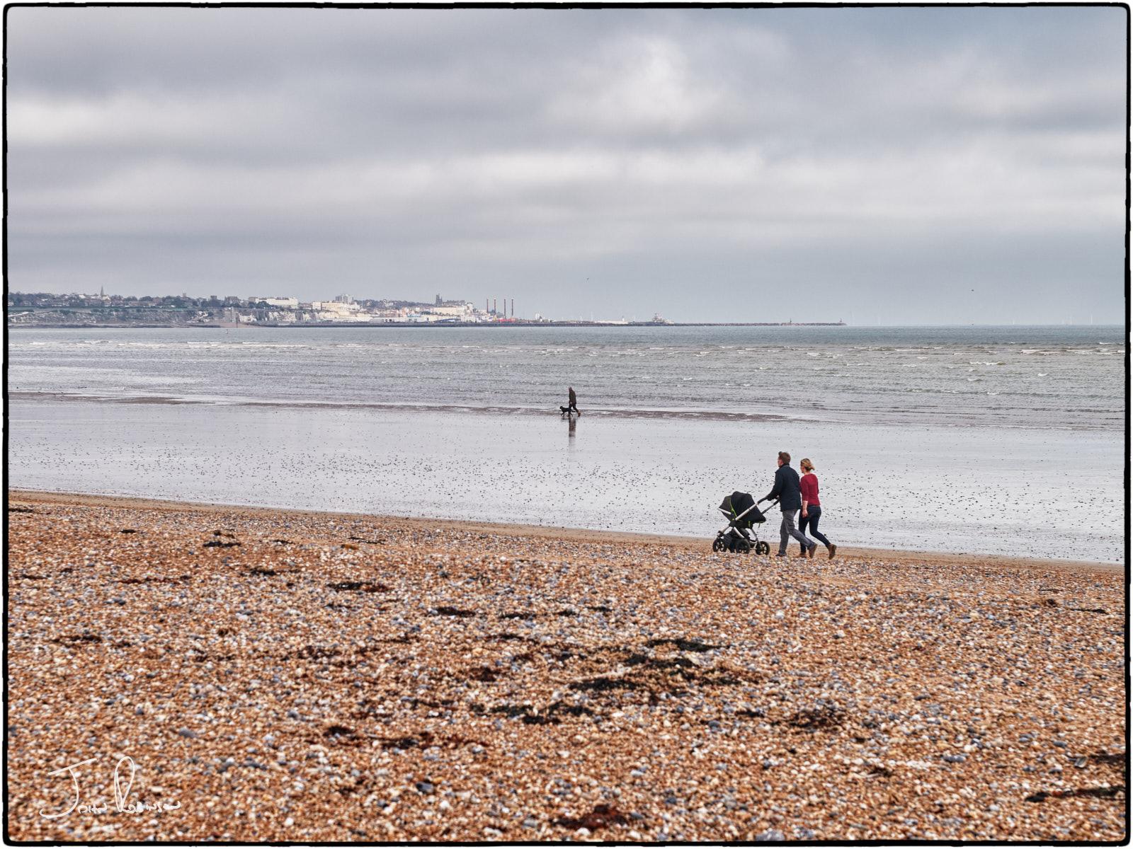 Walking on the beach, late-autumn, Sandwich Bay, Kent